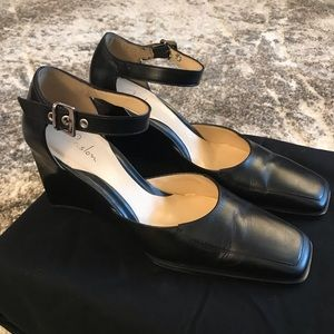 Caslon strappy clogs, size 7 leather, like new